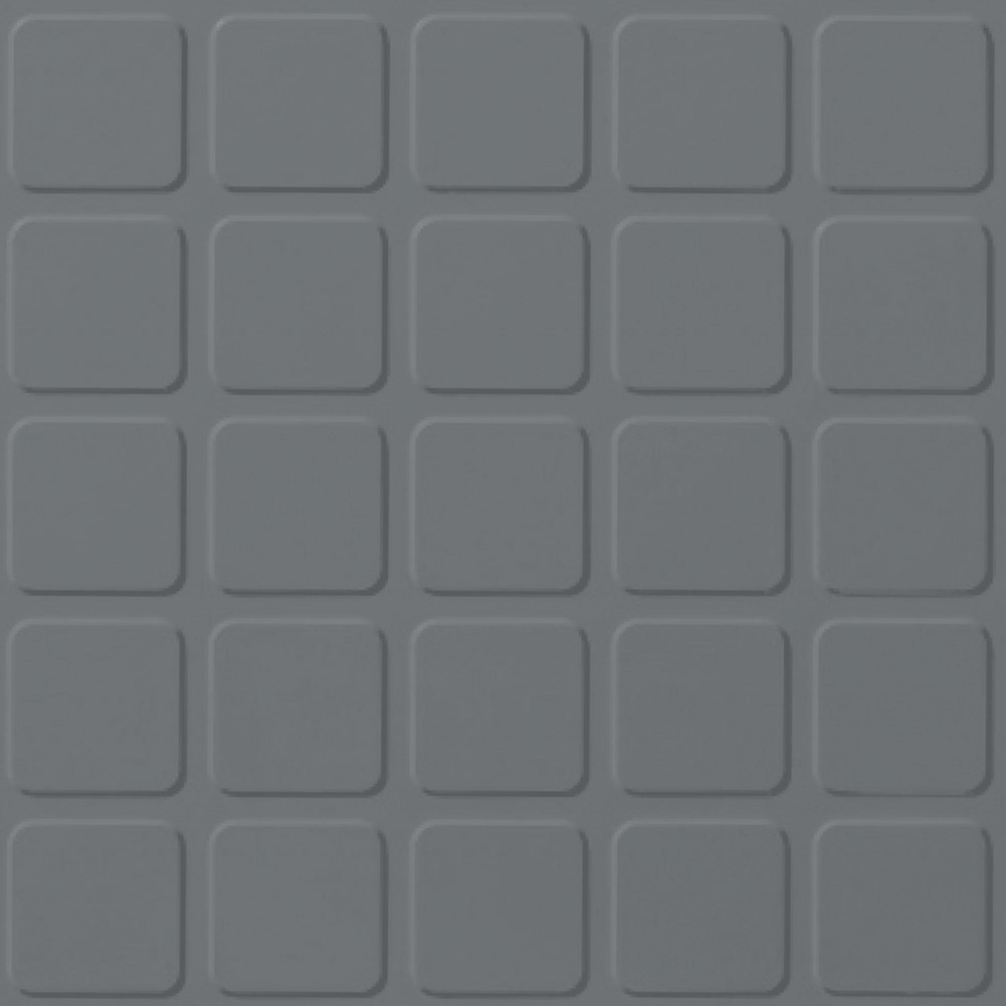 Roppe Rubber Tile 900 - Raised Square Design (994) Dark Gray Rubber Flooring