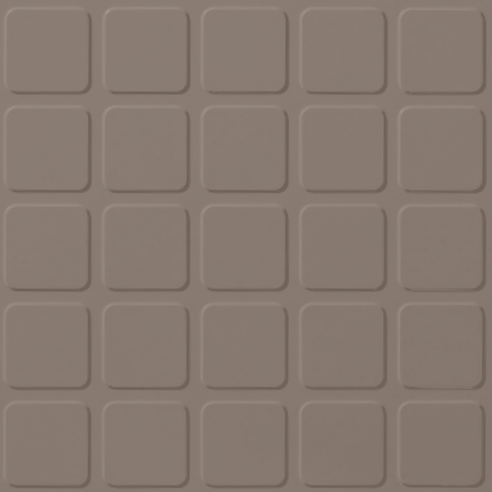 Roppe Rubber Tile 900 - Raised Square Design (994) Fawn Rubber Flooring