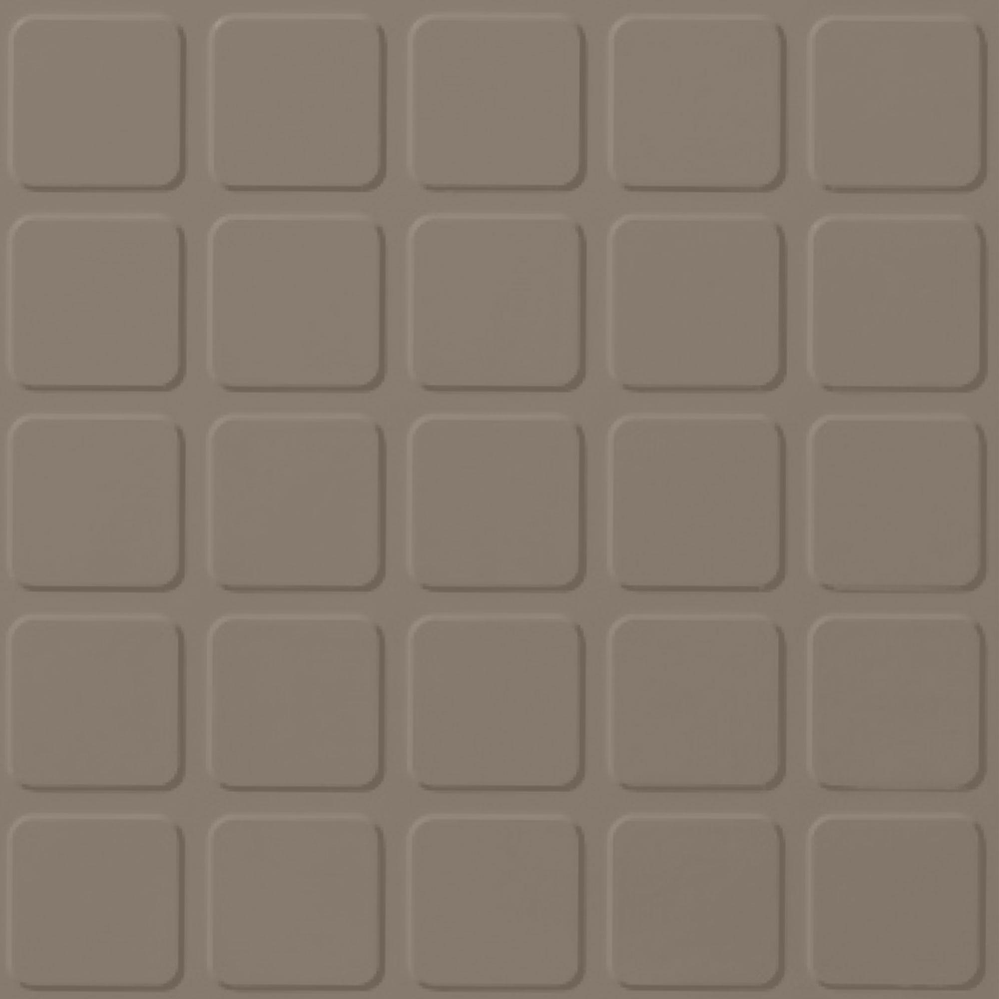 Roppe Rubber Tile 900 - Raised Square Design (994) Fig Rubber Flooring