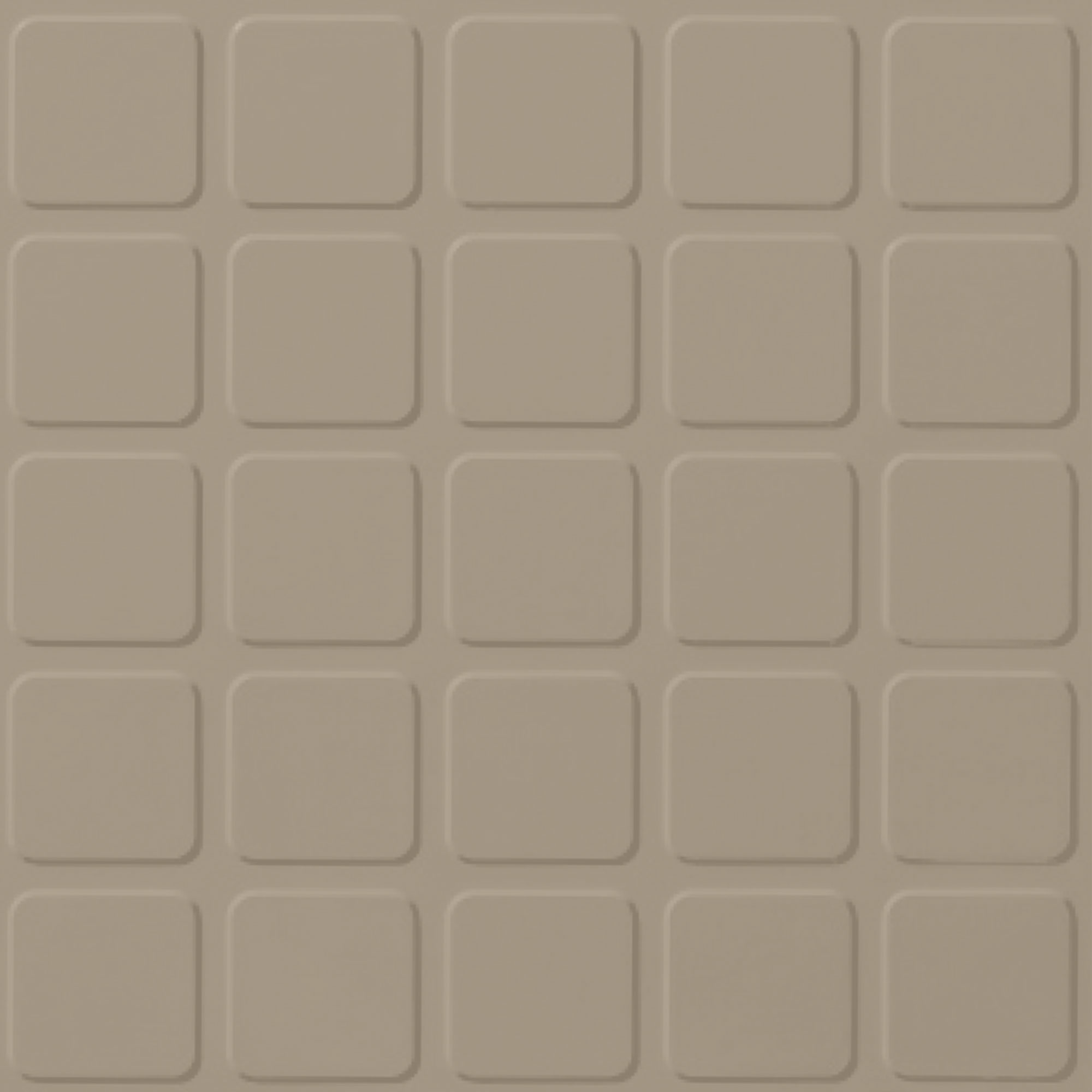 Roppe Rubber Tile 900 - Raised Square Design (994) Flax Rubber Flooring