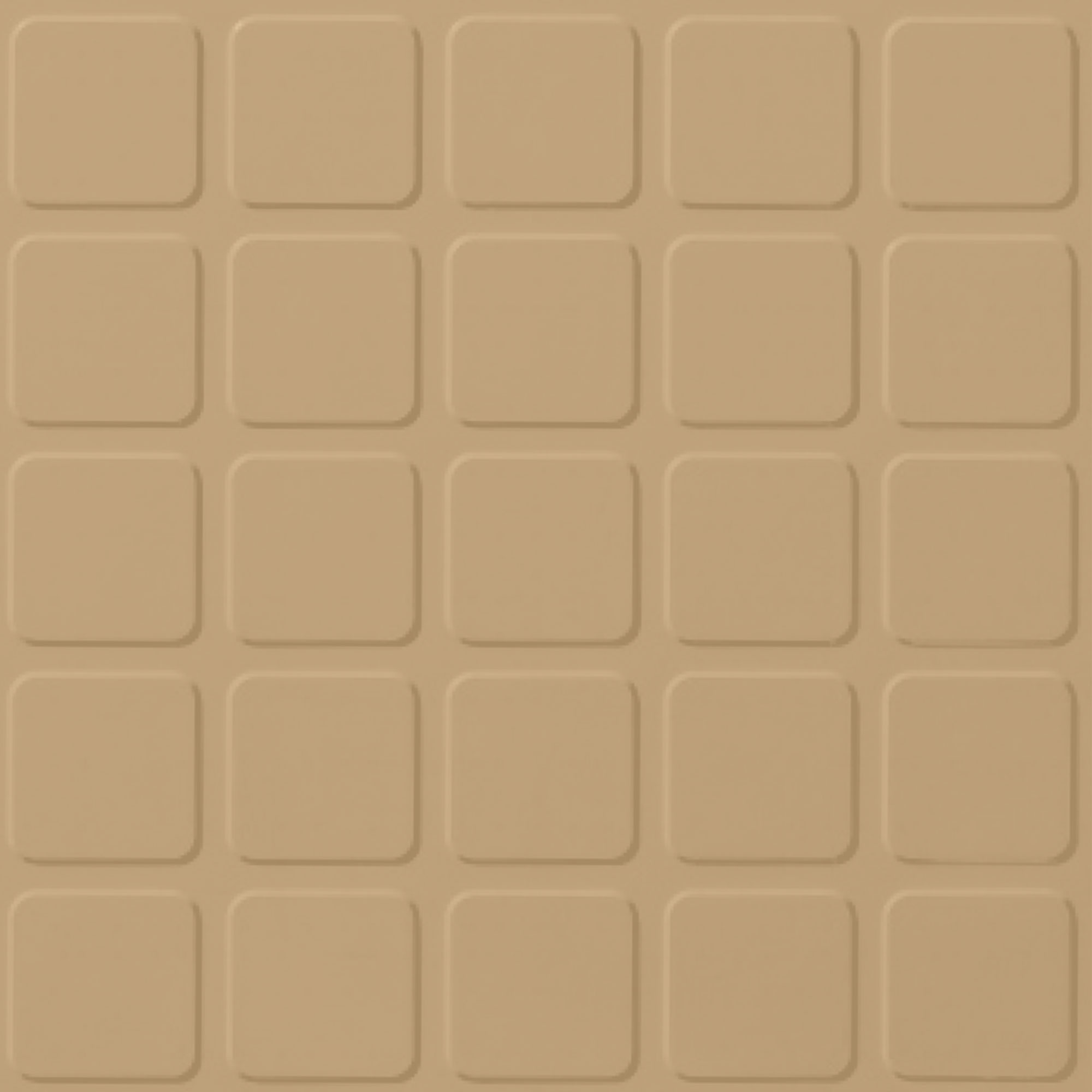 Roppe Performance Compound - Raised Square Design Harvest Yellow Rubber Flooring
