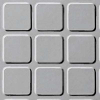 Roppe Rubber Tile 900 - Raised Square Design (994) Iceberg Rubber Flooring