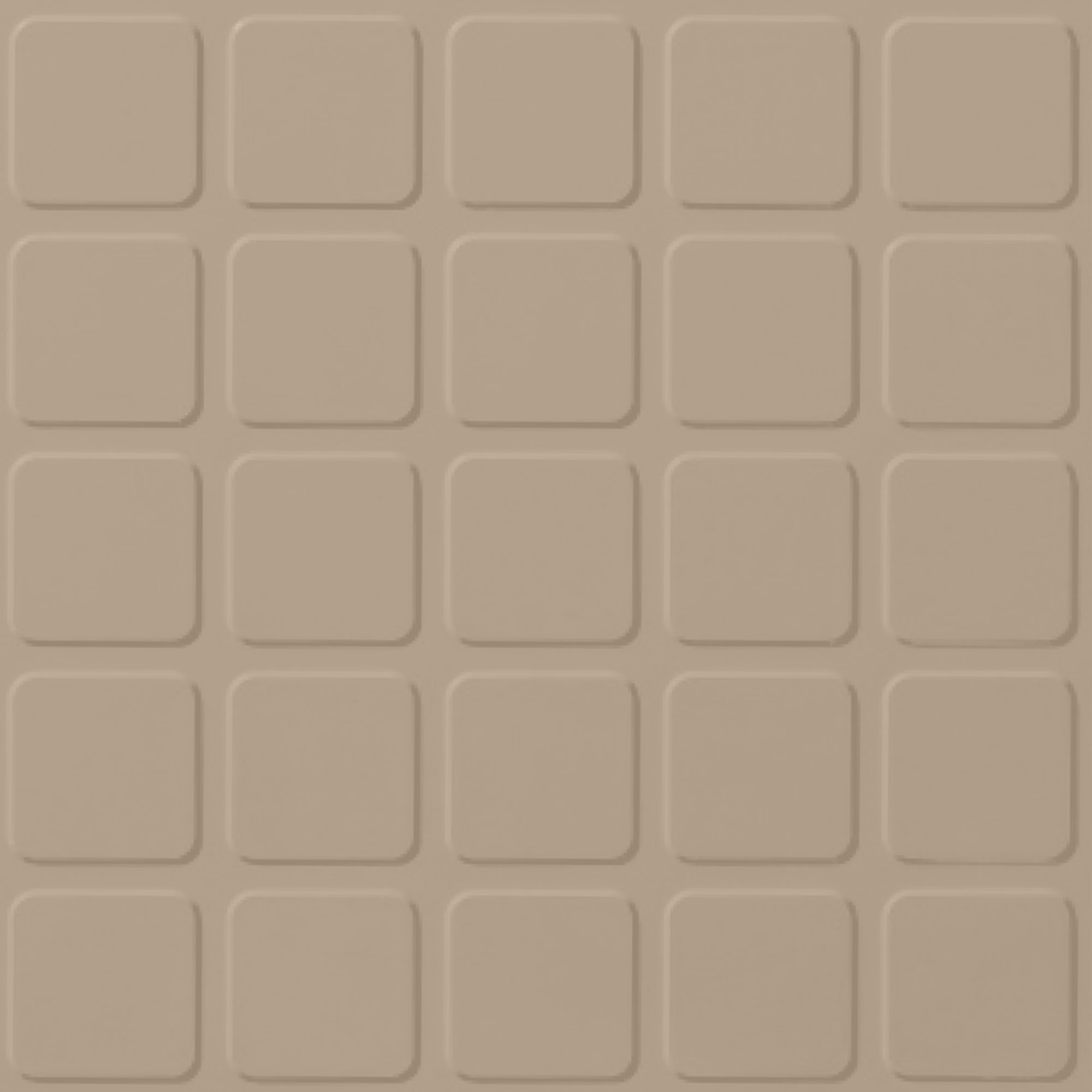 Roppe Performance Compound - Raised Square Design Ivory Rubber Flooring