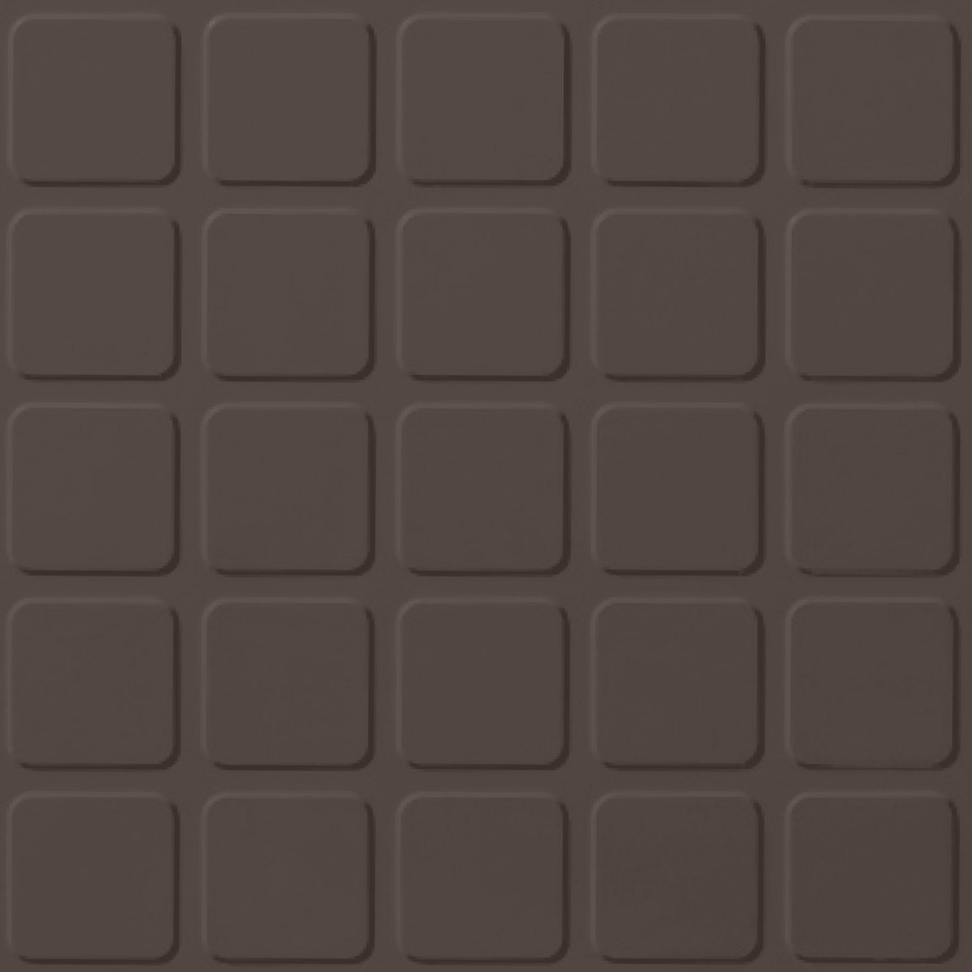 Roppe Rubber Tile 900 - Raised Square Design (994) Light Brown Rubber Flooring