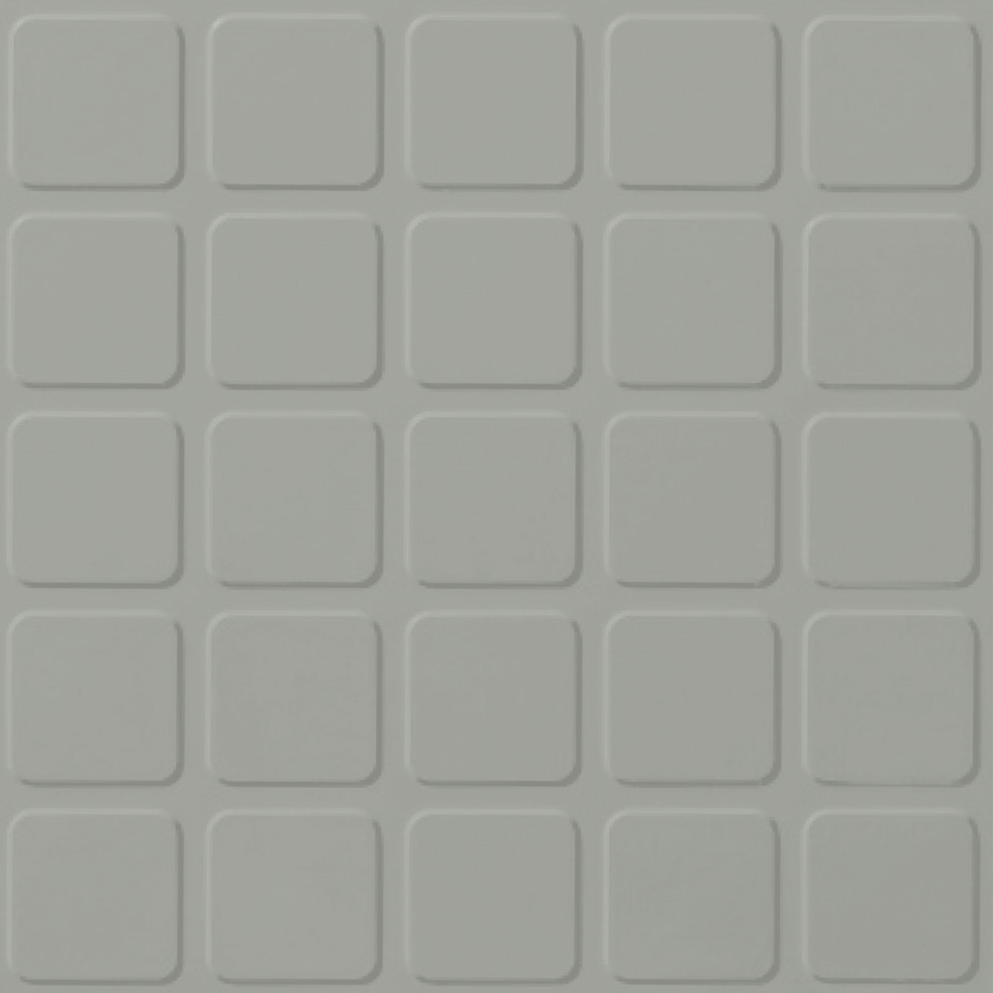 Roppe Rubber Tile 900 - Raised Square Design (994) Light Gray Rubber Flooring