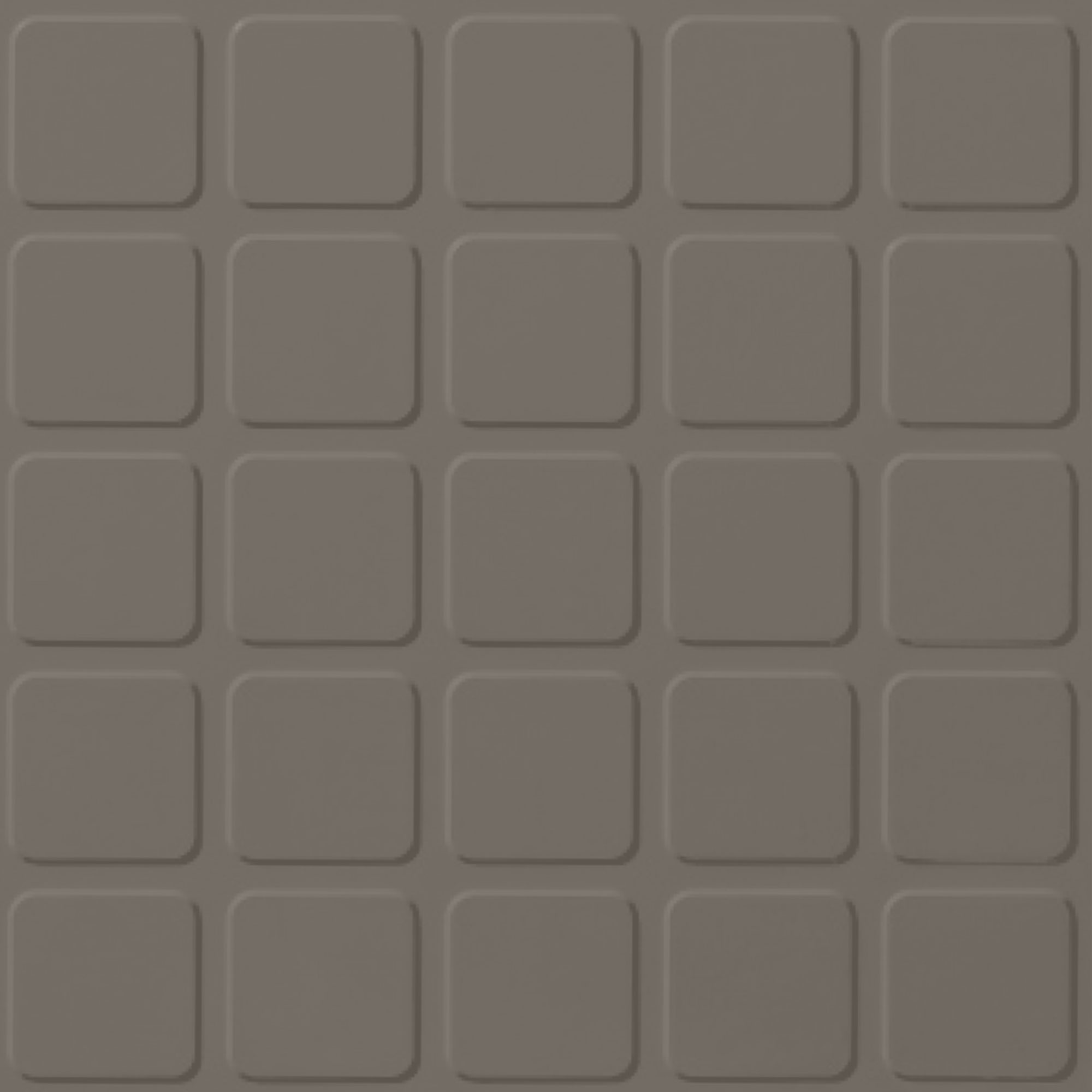 Roppe Performance Compound - Raised Square Design Lunar Dust Rubber Flooring
