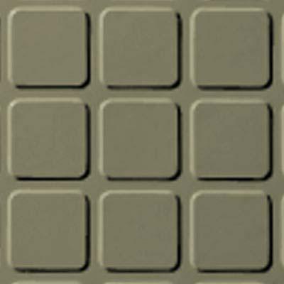 Roppe Rubber Tile 900 - Raised Square Design (994) Moss Rubber Flooring