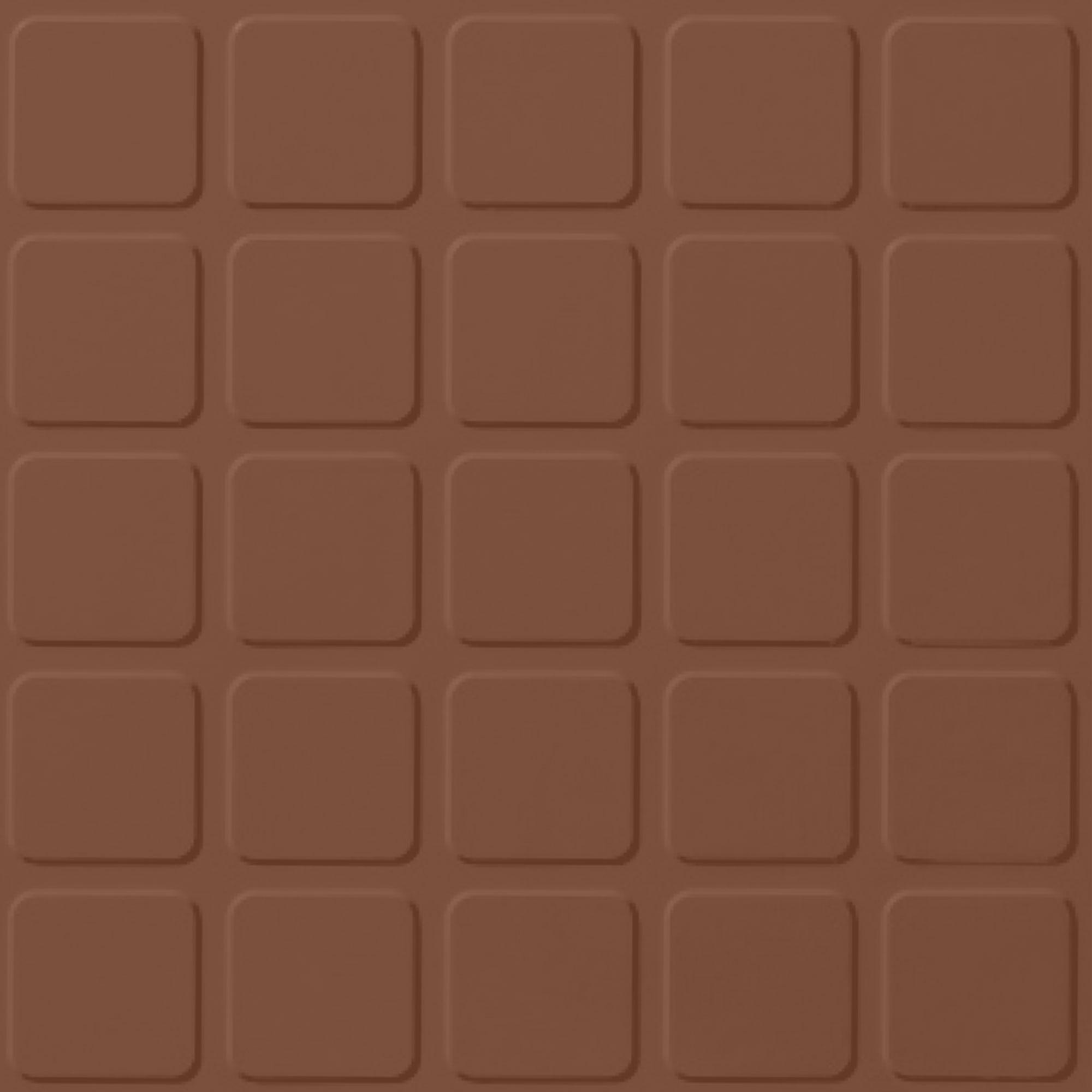 Roppe Rubber Tile 900 - Raised Square Design (994) Nutmeg Rubber Flooring
