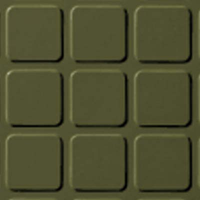 Roppe Rubber Tile 900 - Raised Square Design (994) Olive Rubber Flooring
