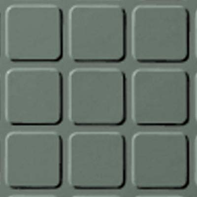 Roppe Rubber Tile 900 - Raised Square Design (994) Pistachio Rubber Flooring