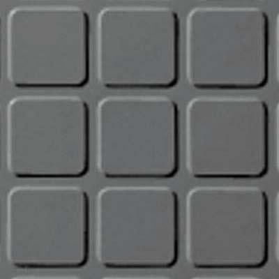Roppe Rubber Tile 900 - Raised Square Design (994) Platinum Rubber Flooring