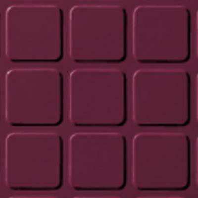 Roppe Rubber Tile 900 - Raised Square Design (994) Plum Rubber Flooring