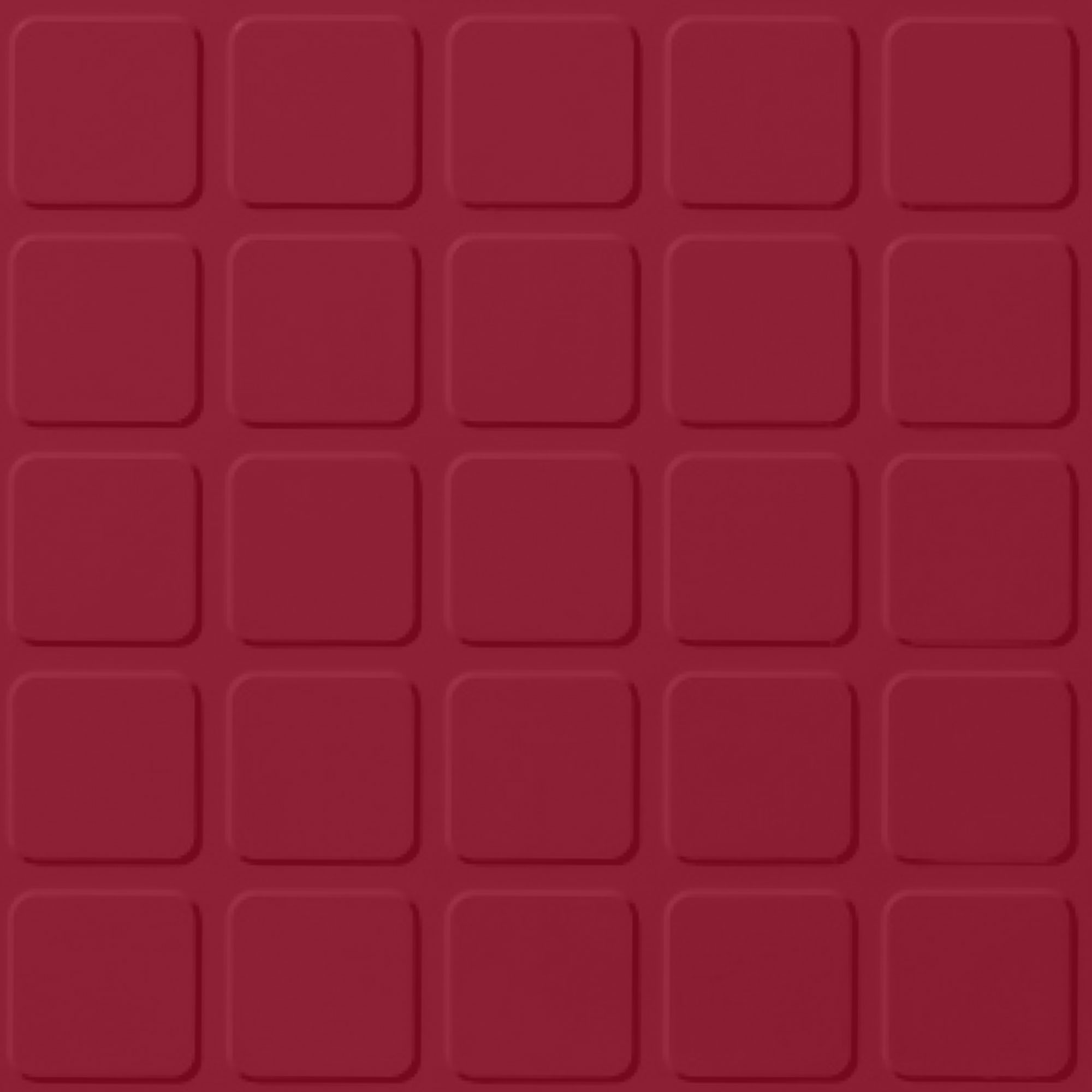 Roppe Rubber Tile 900 - Raised Square Design (994) Red Rubber Flooring