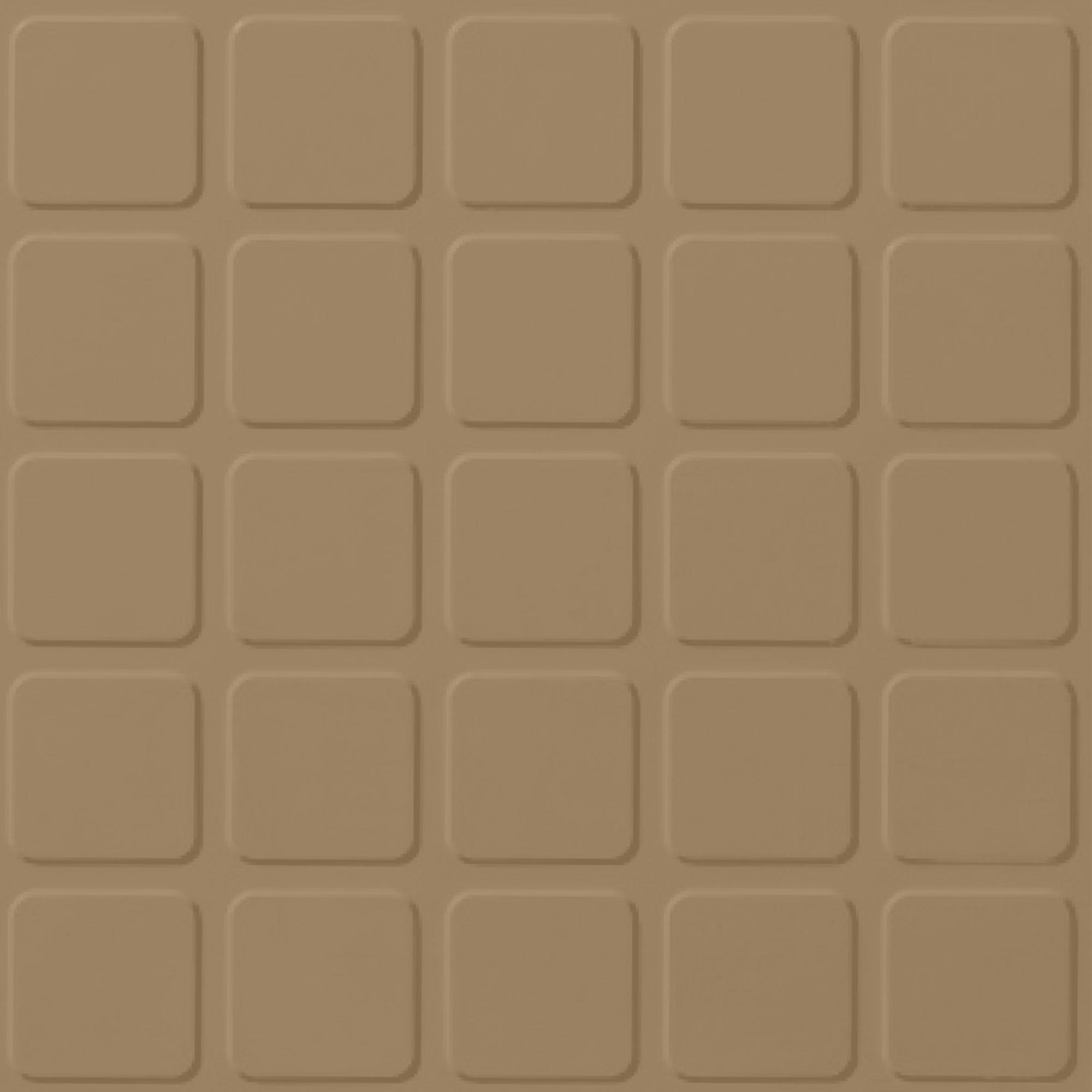 Roppe Rubber Tile 900 - Raised Square Design (994) Sahara Rubber Flooring