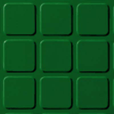 Roppe Performance Compound - Raised Square Design Shamrock Rubber Flooring