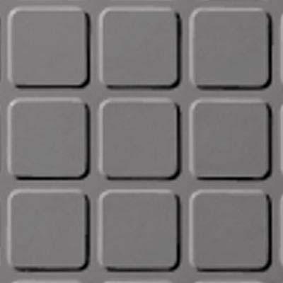 Roppe Rubber Tile 900 - Raised Square Design (994) Slate Rubber Flooring
