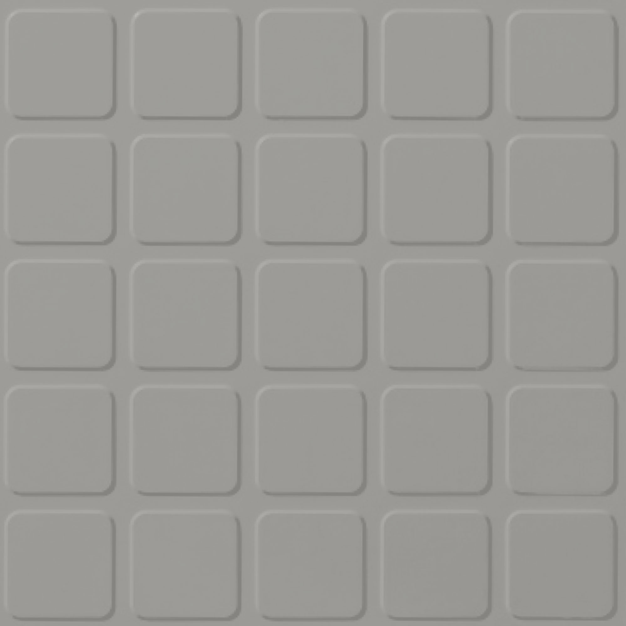 Roppe Rubber Tile 900 - Raised Square Design (994) Smoke Rubber Flooring