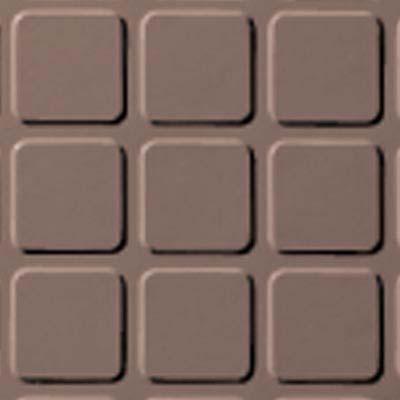 Roppe Rubber Tile 900 - Raised Square Design (994) Spice Rubber Flooring