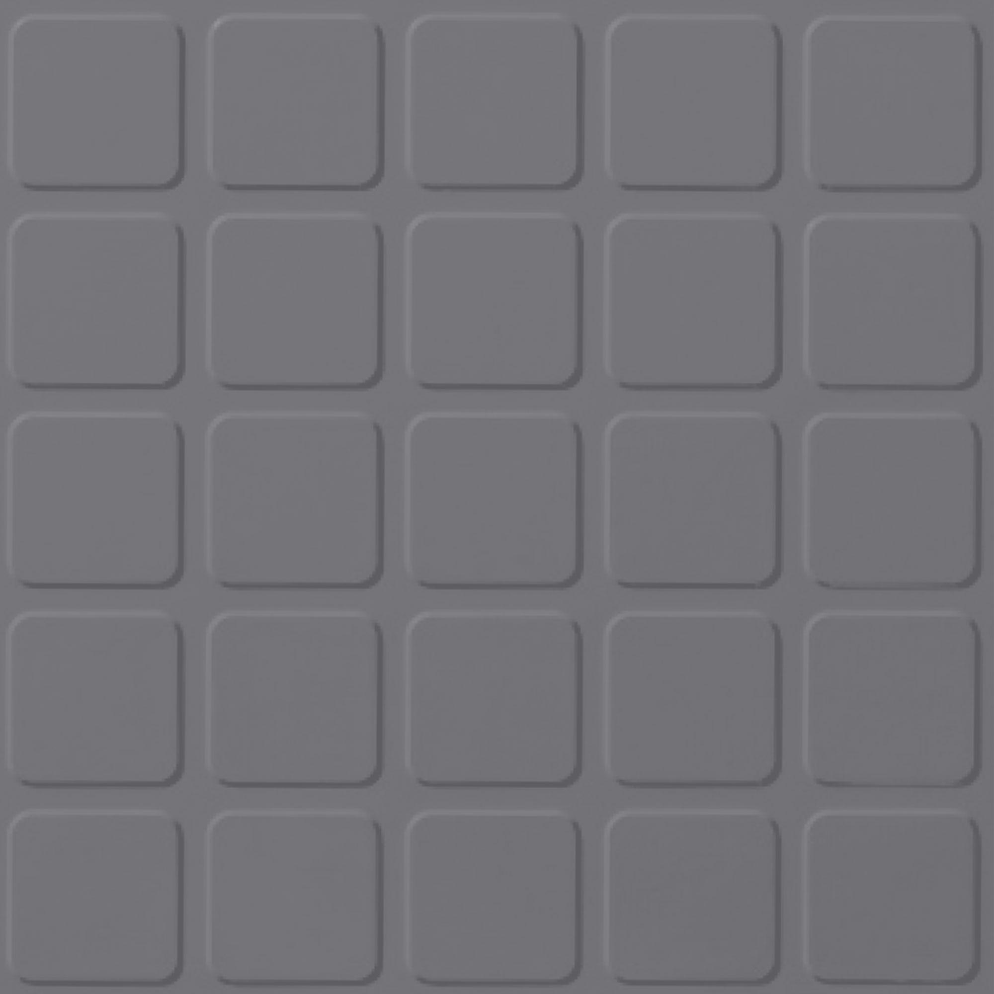 Roppe Rubber Tile 900 - Raised Square Design (994) Steel Gray Rubber Flooring
