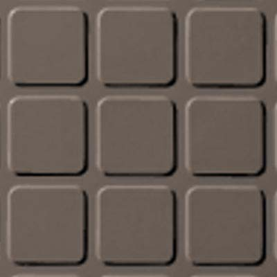 Roppe Rubber Tile 900 - Raised Square Design (994) Taupe Rubber Flooring