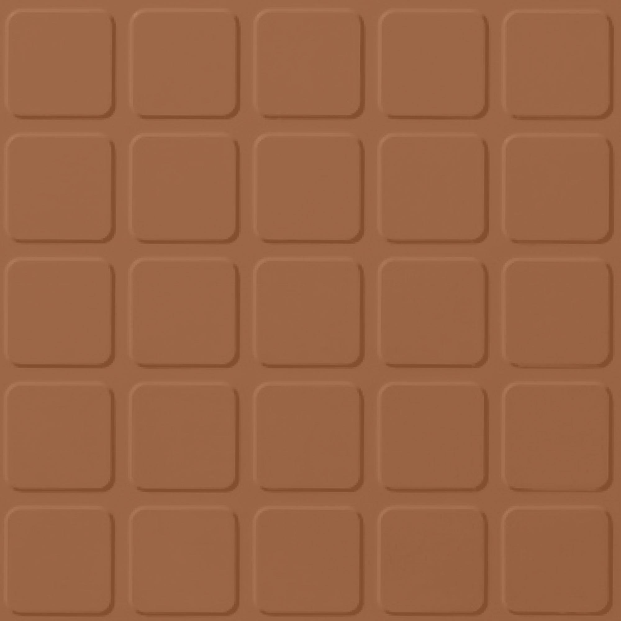 Roppe Rubber Tile 900 - Raised Square Design (994) Terracotta Rubber Flooring