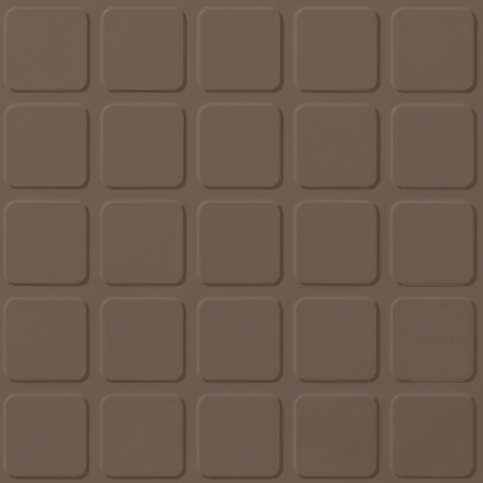 Roppe Rubber Tile 900 - Raised Square Design (994) Toffee Rubber Flooring