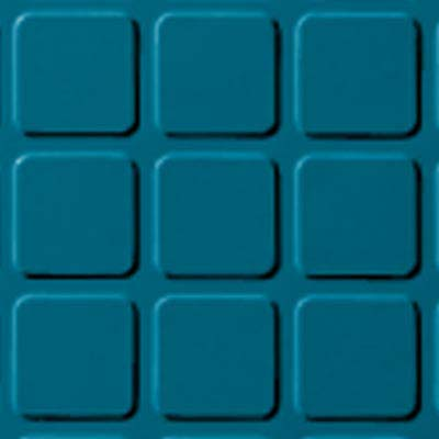 Roppe Rubber Tile 900 - Raised Square Design (994) Tropical Blue Rubber Flooring