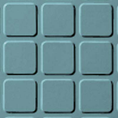 Roppe Rubber Tile 900 - Raised Square Design (994) Turquoise Rubber Flooring