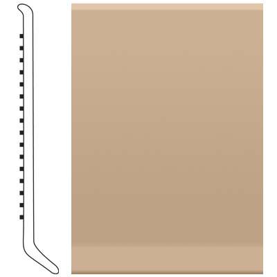 Roppe Ready Base 4 inch Light Khaki Vinyl Flooring