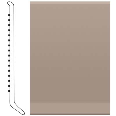 Roppe Ready Base 4 inch Saddle Brown Vinyl Flooring