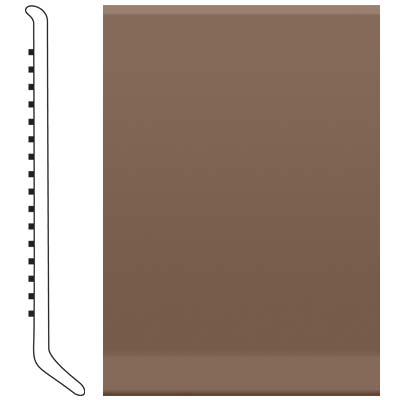Roppe Ready Base 4 inch Toffee Vinyl Flooring