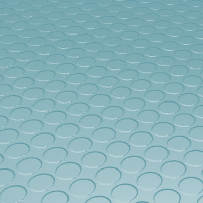 Roppe Rubber Tile 900 - Low Profile Raised Circular Design (992) Turquoise Rubber Flooring