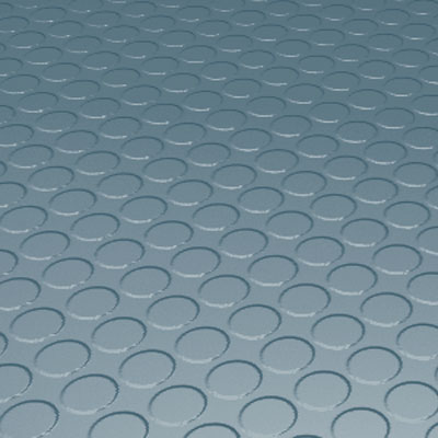 Roppe Rubber Tile 900 - Low Profile Raised Circular Design (992) Colonial Blue Rubber Flooring
