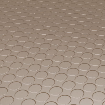 Roppe Rubber Tile 900 - Low Profile Raised Circular Design (992) Sandstone Rubber Flooring