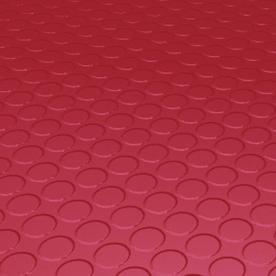Roppe Rubber Tile 900 - Low Profile Raised Circular Design (992) Red Rubber Flooring