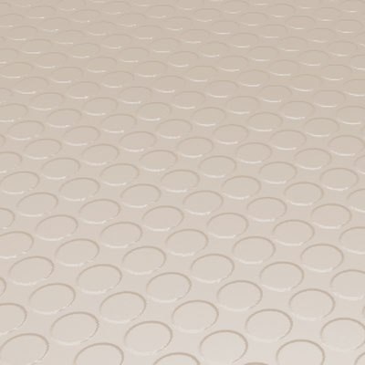 Roppe Rubber Tile 900 - Low Profile Raised Circular Design (992) Ivory Rubber Flooring