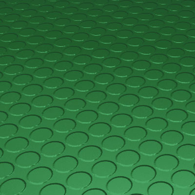Roppe Rubber Tile 900 - Low Profile Raised Circular Design (992) Shamrock Rubber Flooring