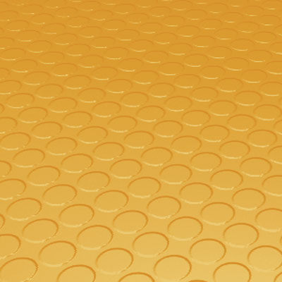 Roppe Rubber Tile 900 - Low Profile Raised Circular Design (992) Golden Rubber Flooring