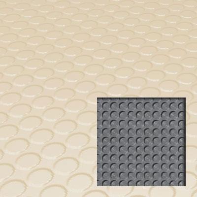 Roppe Rubber Tile 900 - Lug Back Vantage Design (LB996) Almond Rubber Flooring