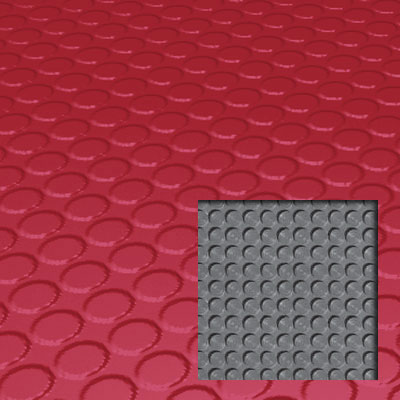 Roppe Rubber Tile 900 - Lug Back Vantage Design (LB996) Red Rubber Flooring