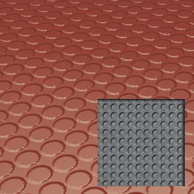 Roppe Rubber Tile 900 - Lug Back Vantage Design (LB996) Brick Rubber Flooring