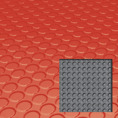 Roppe Rubber Tile 900 - Lug Back Vantage Design (LB996) Tangerine Rubber Flooring