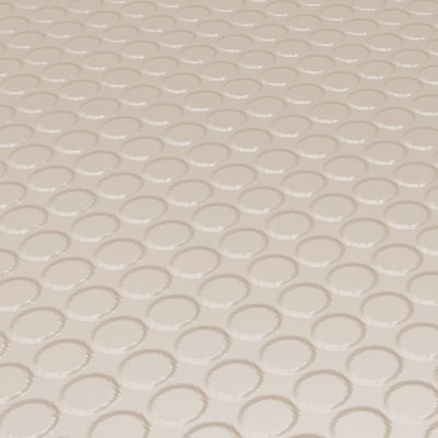 Roppe Rubber Design Treads - Vantage Raised Circular Design Ivory Rubber Flooring