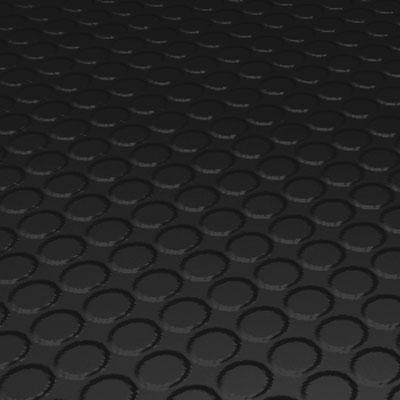 Roppe Rubber Design Treads - Vantage Raised Circular Design Black Rubber Flooring