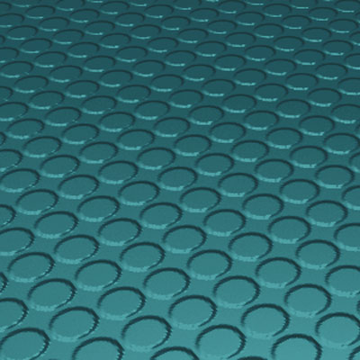 Roppe Rubber Tile 900 - Vantage Raised Circular Design (996) Peacock Rubber Flooring