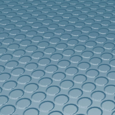 Roppe Rubber Tile 900 - Vantage Raised Circular Design (996) Salem Blue Rubber Flooring
