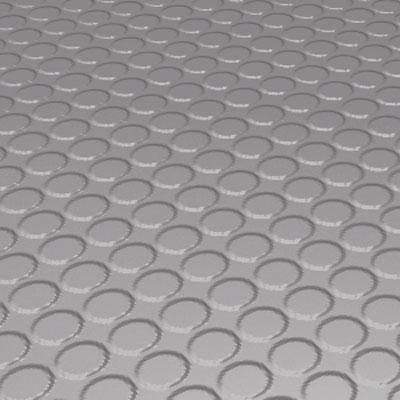Roppe Rubber Tile 900 - Vantage Raised Circular Design (996) Slate Rubber Flooring