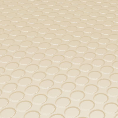Roppe Rubber Tile 900 - Vantage Raised Circular Design (996) Almond Rubber Flooring
