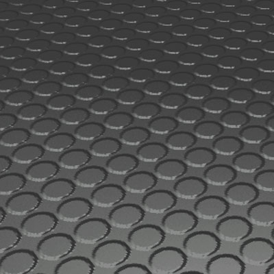 Roppe Rubber Design Treads - Vantage Raised Circular Design Black/Brown Rubber Flooring