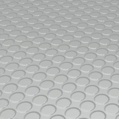 Roppe Rubber Tile 900 - Vantage Raised Circular Design (996) Light Gray Rubber Flooring